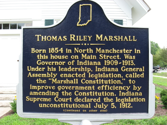 Marshall House Historical Marker, Side One