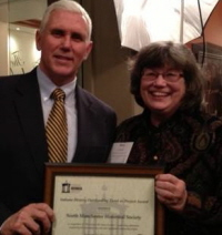 NMHS President Mary Chrastil Honored With IHS Award, December 2013